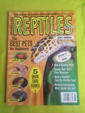 Reptiles Usa Magazine 2001 Annual (frogs, snakes, lizards, turtles, amphibians)