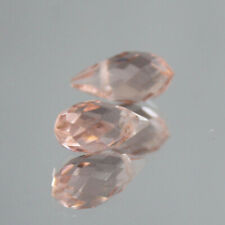 Crystal With Hole Teardrop Glass Beads 10Pcs 6X12Mm Champagne Oval Faceted Czech