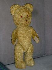 ANCIEN PETIT OURS NOUNOURS PELUCHE REMBOURRAGE PAILLE 37 CM OLD TEDDY BEAR