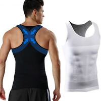 POWERFUL MENS BODY CHEST WAIST SHAPER VEST TOP FOR TUMMY STOMACH CONTROL NEW