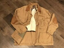 BERETTA - Hunting Coat - Large - Camel - Field Jacket - Upland - Leather Accents