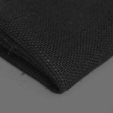 Black Hessian Jute Burlap Fabric Cloth Material Craft Sacks Upholstery 10oz 90cm