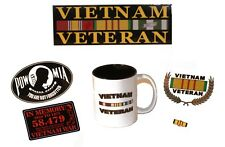 11.oz Vietnam Veteran Tribute Coffee Cup Decal and Lapel Pin Gift Pack