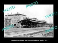 OLD 8x6 HISTORIC PHOTO OF ALTOONA PENNSYLVANIA THE RAILROAD STATION c1920