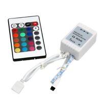Light Strip 24 Key IR Remote Controller Box DC 12V 6A For 3528 5050 RGB LED