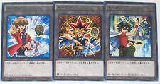 Yu-Gi-Oh Yami Yugi, Jaden, Yuya Token 3 Cards Set PREV-JP001,002,003Japane Promo