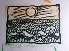 """Pierre Alechinsky Lino Lithograph, Hand Signed, """"Bon a Tirer"""", 1970, Arches"""