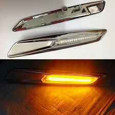 2x Led Fender Turn signal Side Marker Light For BMW E60 E61 E81 E82 E90 E91 E92