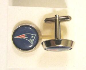 New England Patriots Cuff Links , New England Patriots logo cufflinks , Patroits