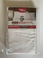 Better Home and Gardens Standard Pillowcases 400 Thread Count Cotton Set 2 NIP