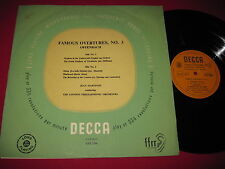 RARE IMPORT CLASSICAL LP FAMOUS OVERTURES NO 3 OFFENBACH MARTINON DECCA LXT 2590