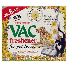PACK OF 6 VACUUM FRESHENERS EXTRA STRENGTH PET LOVERS SPRING MEADOW ODOUR SMELL