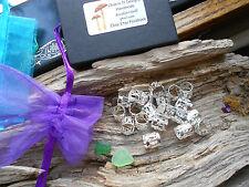 20x Dreadlock Beads Classic Silver Adjustable Cuff Clip Dread Tubes FREEPOST UK