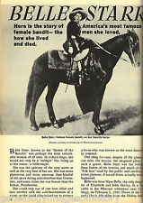 Belle Starr Sidesaddle Riding Queen Bandit of Old West
