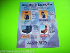 BANK IT + 3 MORE By LAZER-TRON ORIGINAL REDEMPTION ARCADE GAME MACHINE FLYER