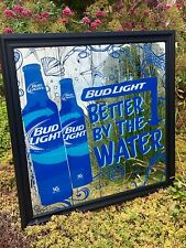 """Bud Light Better By The Water Beach Sea Beer Bar Pub Man Cave Mirror  """"New"""""""