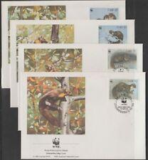 v 1861 WWF 1992/ Irland/ Marder  MiNr 798/801 auf 4 FDC