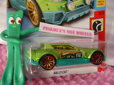 RALLY CAT 😸 green/orange 10sp😸5/5 HW DAREDEVILS✰2018 i Hot Wheels WW case H