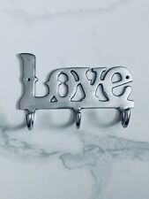 Home Silver Hooks Love Strong Metal Stick on Wall Door Hooks