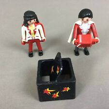 Playmobil Circus / Magicans ? Figures With Magic Box & Accordian