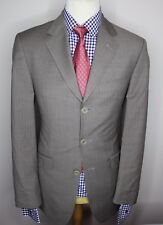TED BAKER LONDON LUXURY DESIGNER SUIT STRIPED BEIGE MODERN FIT 40x34x31