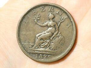1822 Hibernia WELLINGTON Irish Penny Token Condor #TT127