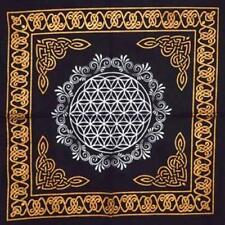 """Flower of Life Altar Tarot Cloth Or Crystal Grid 18"""" X 18"""" Wicca Pagan Free Ship"""