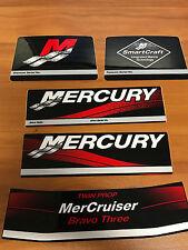 OEM MerCruiser Mercury Bravo 3 III outdrive Decal sticker kit set 37-881760A00
