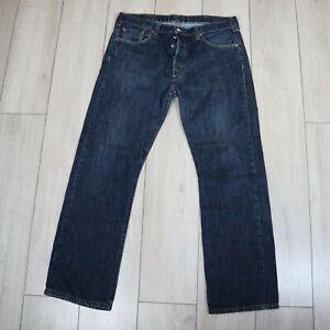 Levis 501 Jeans Straight Button Fly Vintage Blue W38 L32