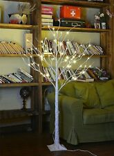 Pre Lit Birch Tree Rustic Christmas Decor LED Lights 4 Foot Indoor Outdoor S