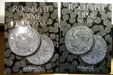 ROOSEVELT DIMES COMPLETE SET 1965 TO 2018-PD  VF TO BU 107 COINS IN NEW ALBUMS