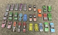 Tootsietoy & Other Metal Car Lot of 29 Dragster, Land Rover, Fiat, Roadster