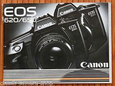 Kamera Bedienungsanleitung CANON EOS 620 / 650 User Manual Anleitung (X2820