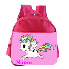 Unicorn Personalised Customised Kids Toddler School Nursery Bag Backpack
