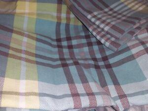 Next Duvet Set Superking Reversible Taupe Grey Check 2 Pillowcases VGC