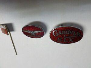 3 Vintage Enamel Badges