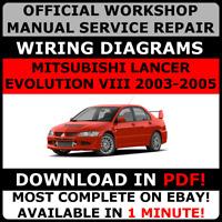# OFFICIAL WORKSHOP Repair MANUAL MITSUBISHI LANCER EVOLUTION VIII 8 2003-2005 #
