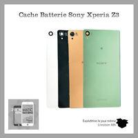 Vitre arrière cache batterie Sony Xperia Z3 Qualite Original Avec logo + Adhesif