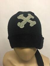 Barts Pirate Boys Beanie Hat Black 53cm BNWT Acrylic Winter Hat Xmas CLEARANCE