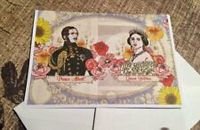 Queen Victoria and Prince Albert Greetings card Illustrated card of the Monarch