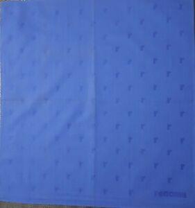 "Renoma Unisex Plain Blue Polka Dot Cotton Handkerchief 18"""