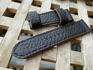 26 mm handmade ,leather watch strap. Vintage .Very soft nappa  .133/80/26 mm