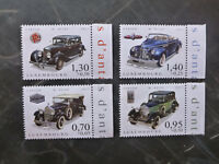 2017 LUXEMBOURG CARS OF YESTERYEAR SET OF 4 MINT STAMPS MNH
