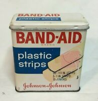 *Vintage Advertising Tin JOHNSON & JOHNSON BAND AID Tin -variety-  **empty tin**