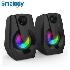 USB Wired LED Computer Speakers Stereo Bass Music Player For Desktop Laptop PC