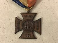 Women's Relief Corps 1883 Pin Medal Antique Vintage