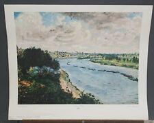 """Renoir Vintage Print """"Chalands Sur Le Seine"""" 1960's Shorewood Publishers G-279"""