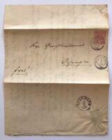 Württemberg EF Weinsberg n. Öhringen Doppelverwendung 1880
