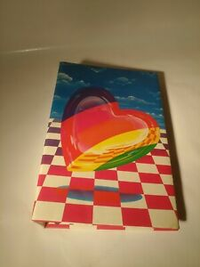 Vintage Lisa Frank Photo Album With Rainbow Heart and Checkerboard 1988