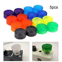 5pcs Guitar Effect Pedal Foot Nail Cap Bumpers Footswitch Protector Guitar Parts